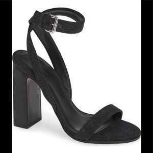 NWOT-BALENCIAGA Denim Wrapround Heeled Sandal6.5